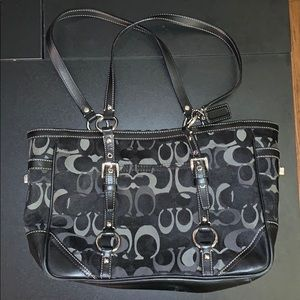 """Authentic Coach Tote with """"old school"""" C logo"""